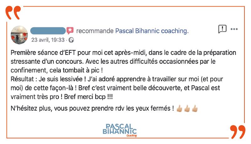 Témoignage sur les bienfaits d'une séance de coaching avec Pascal Bihannic