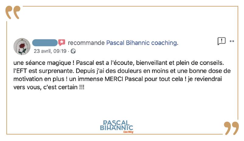 Témoignage sur les bienfaits des séances de coaching avec Pascal Bihannic
