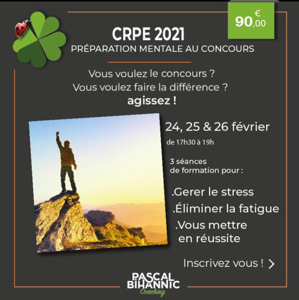 CRPE préparation mentale - Pascal Bihannic Coaching